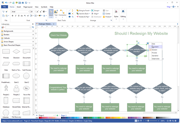 decision tree template visio - the best visio alternative for windows mac and linux