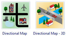Directional Map Software - Draw Directional Map easily with