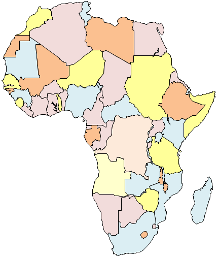 Geo map africa ccuart Images