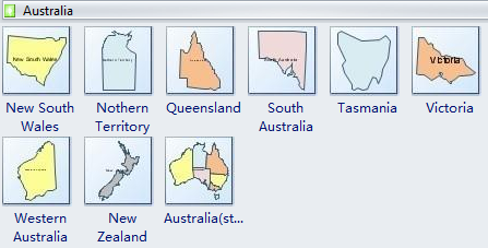 Geo Map Shapes - Australia