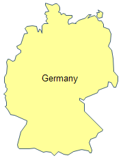 Geo Map Europe - Germany map drawing