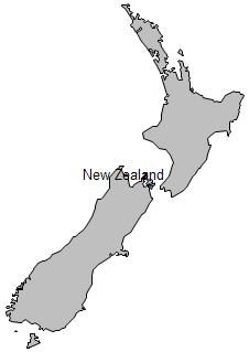 Geo Map - New Zealand