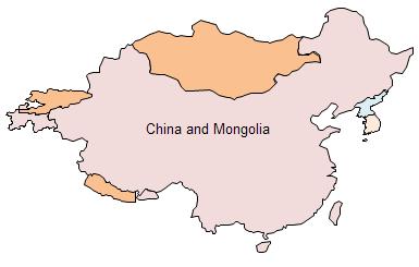 Geo Map - China and Mongolia