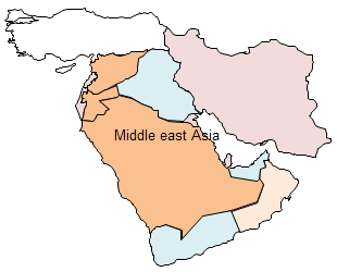 Geo Map - Middle East Asia