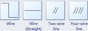 Símbolos de alambre