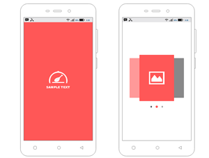 Android UI Wireframe Template