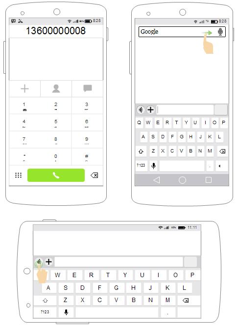 Android UI Wireframe Examples