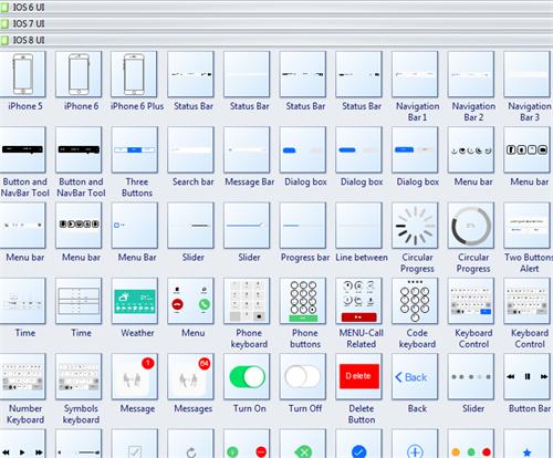 iOS Wireframe Symbols