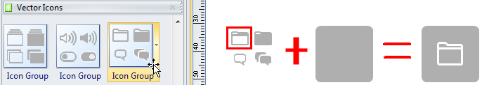 Combiner les icônes
