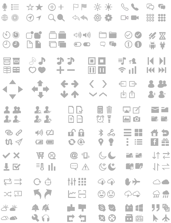 iPhone UI Wireframe Vector Icons