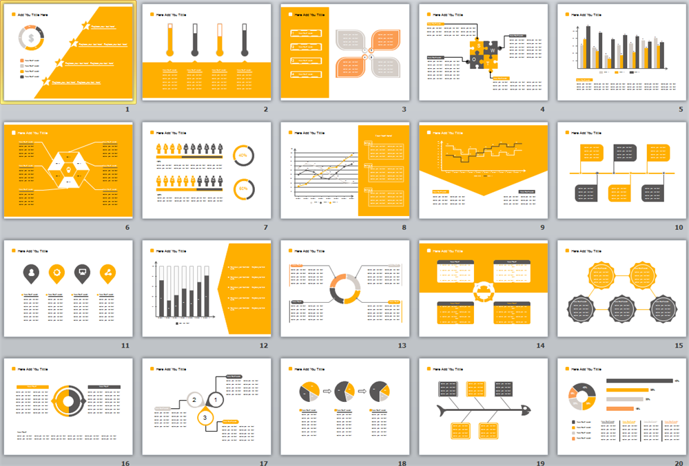 Yellow Background PPT Template