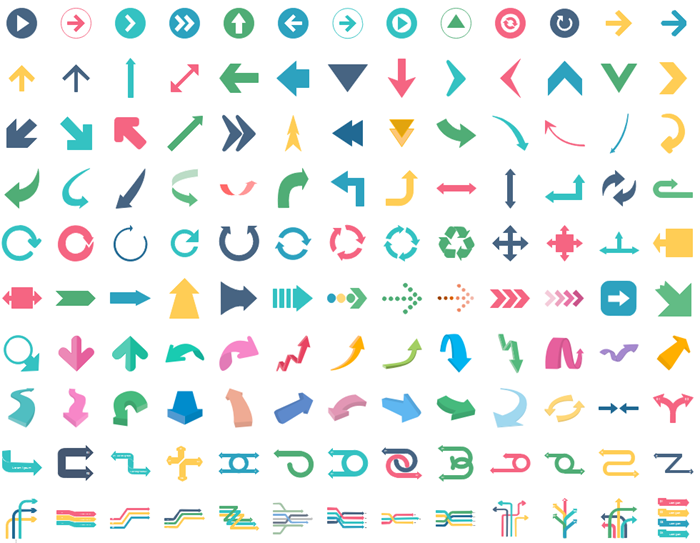 infographic arrow icons