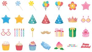 Elementos de Cumpleaños