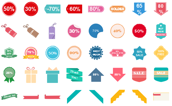 infographics discount label elements