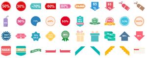 Elementos de Etiquetas de Descuento
