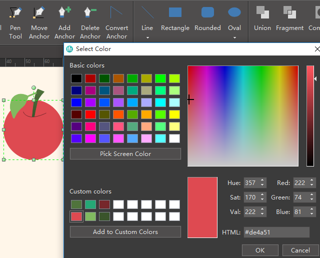 Fill Color for Apple Element