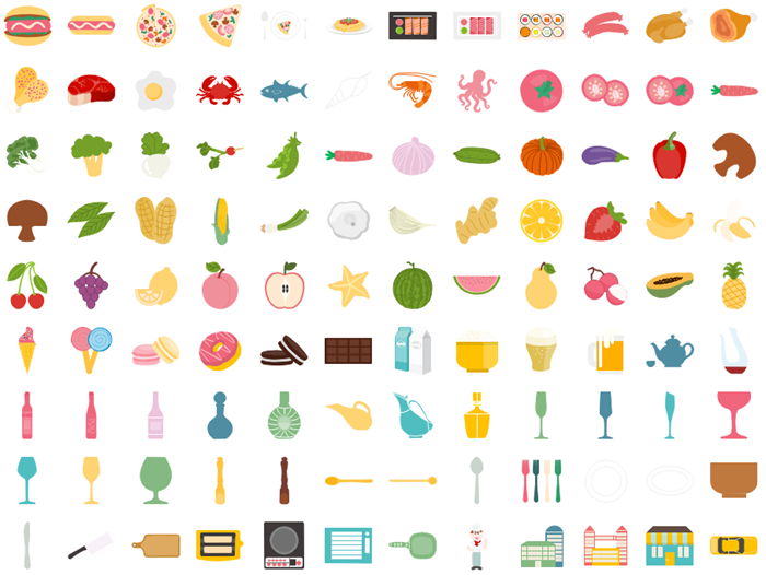 infographic food icons