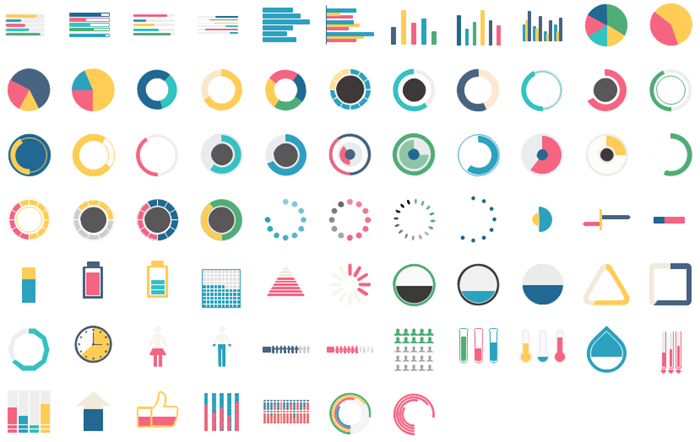 vector infographics chart elements