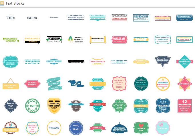 infographics text block elements