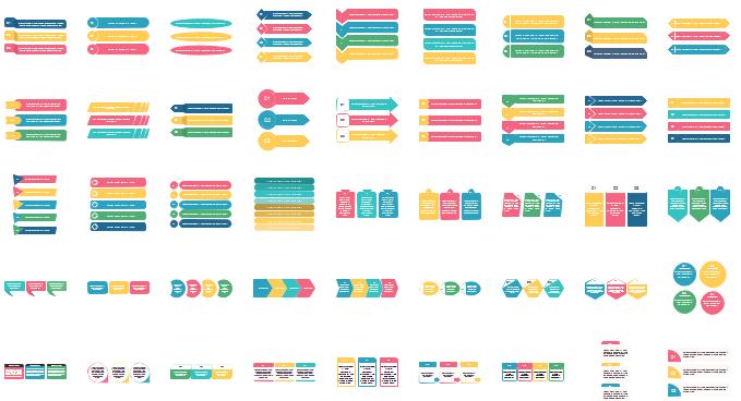 blocs de texte d'infographie - liste