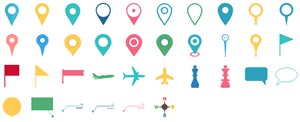 Elementos de Punteros de Mapa