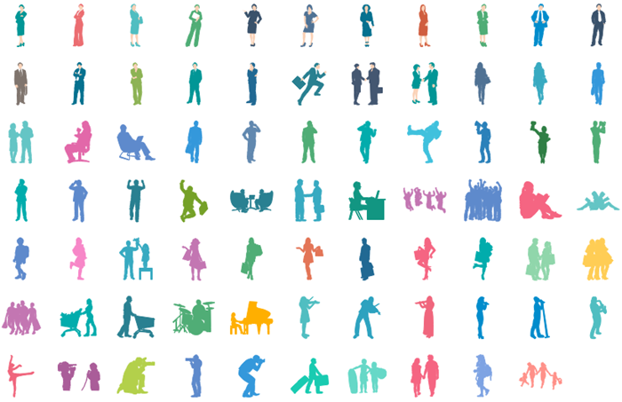 infographic people icons
