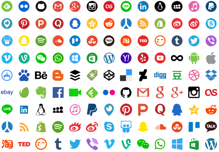 infographic social media icons
