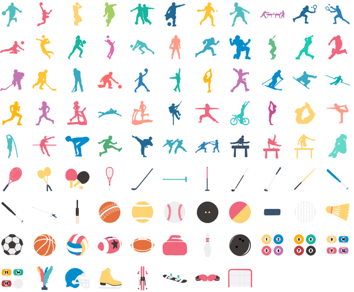 infographic sport icons