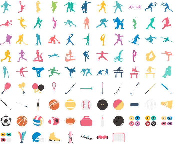 ícones infográficos desportivos