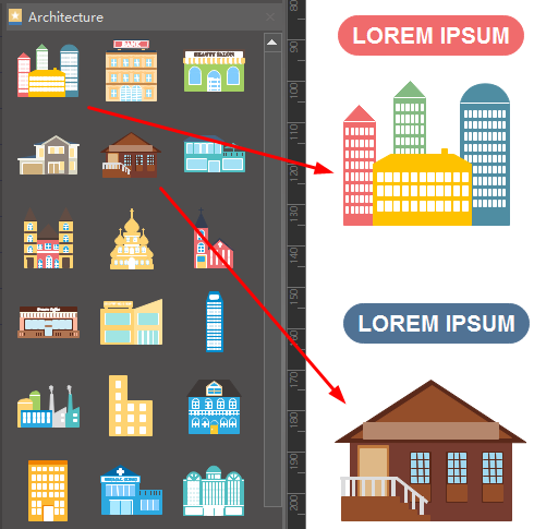 Add Elements for Architecture Infographics