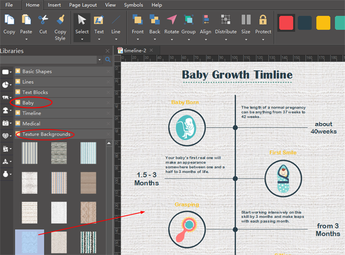 modify infographic timeline template