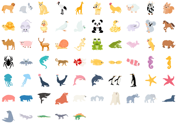 infographics animal elements