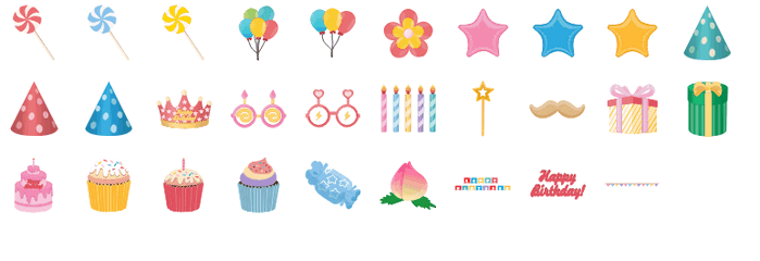 birthday card elements