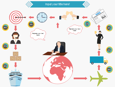 Application of Infographics Business People Element