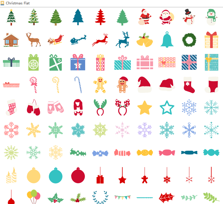 christmas infographic vector elements