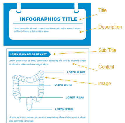 optimize infographic content format