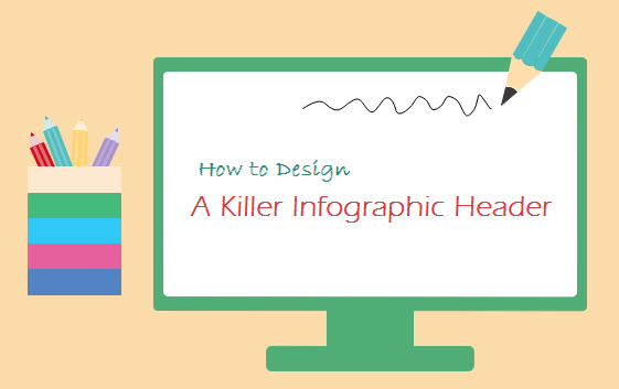 how to design infographic header
