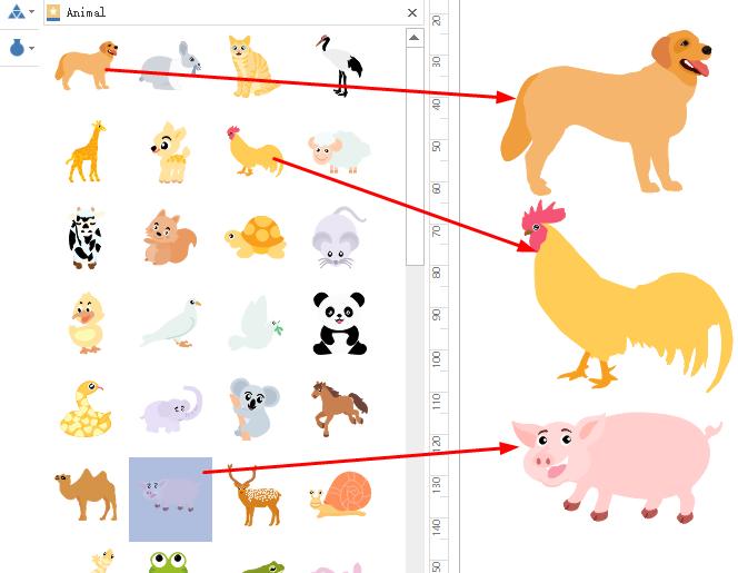 Drag Animal Symbols