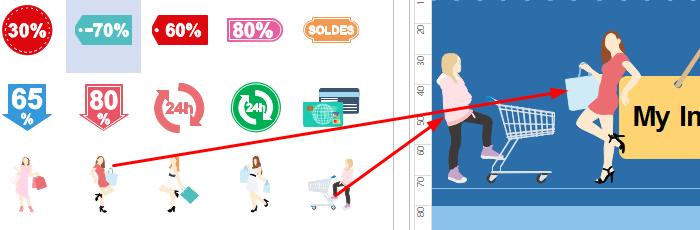 Drag and Drop Marketing Symbols