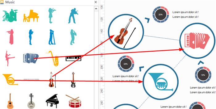 Drag and Drop Music Symbols