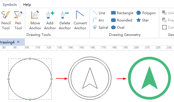 draw architecture symbols