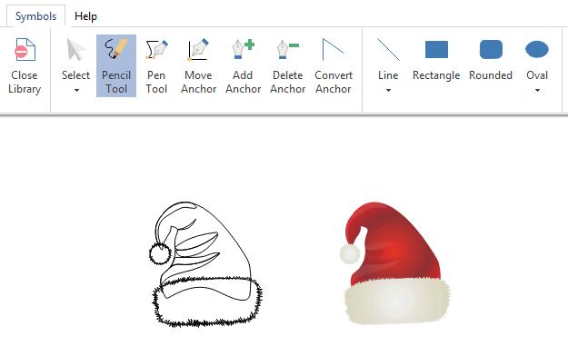 draw infographics christmas symbols