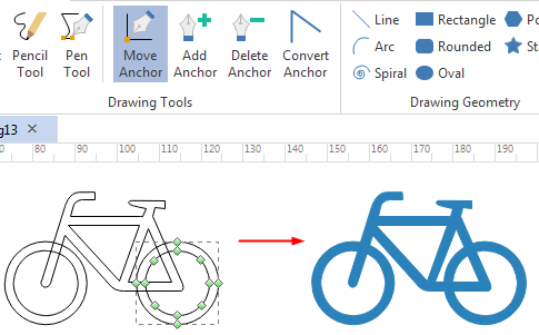draw custom transportation symbols