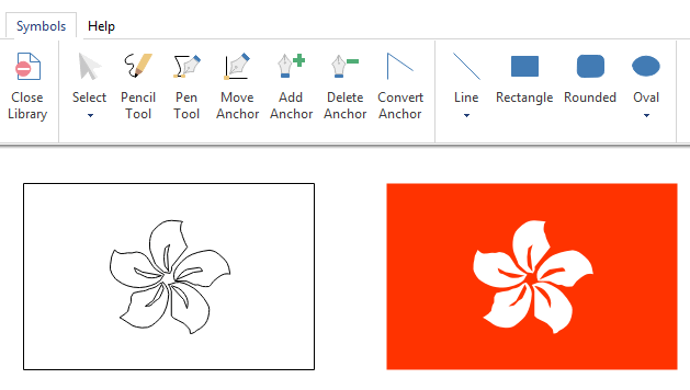 draw infographics flag elements