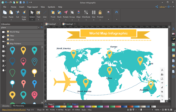 Map Infographics Creator - Make Dazzling Map Infographics ...