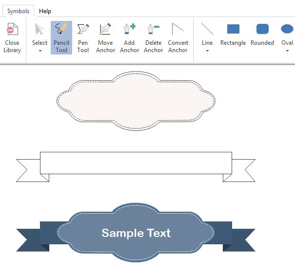 draw infographics title symbols