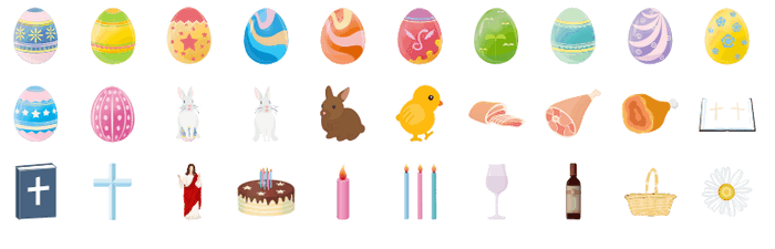 easter infographic vector elements