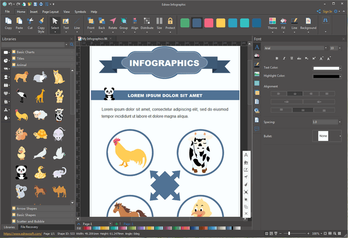 Edit Animal Infographic Templates