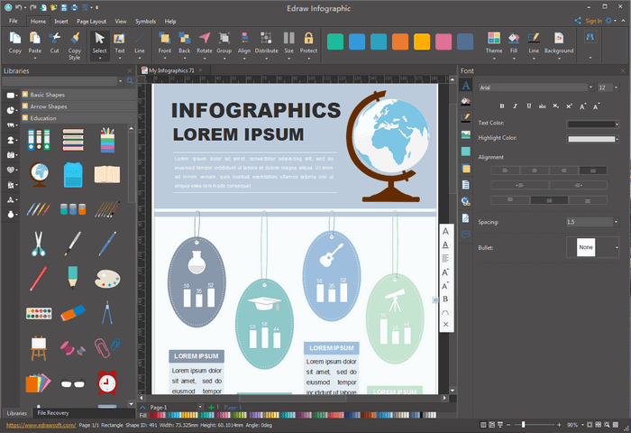 Free infographic template for students