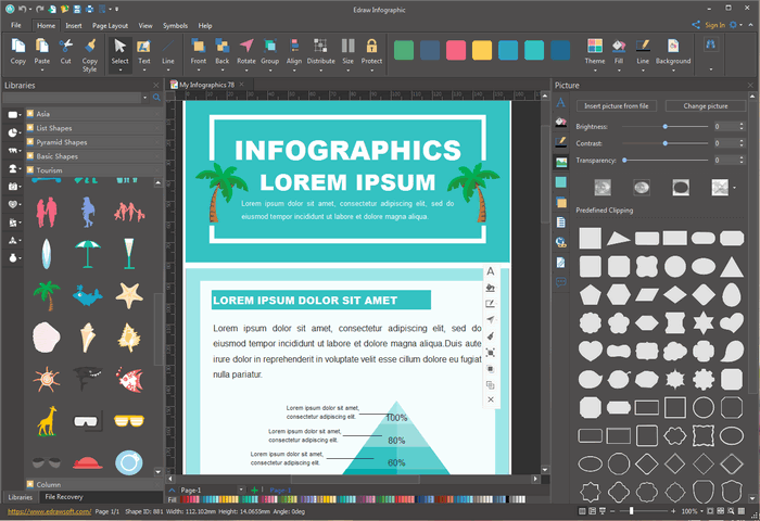 Edit Tourism Infographic Templates